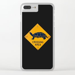 Turtle Crossing Clear iPhone Case
