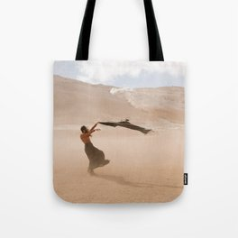 desert dust storm Tote Bag