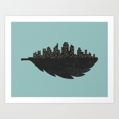 Leaf City Art Print