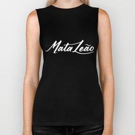 Mata Leao typography Biker Tank