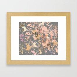 Skin Tones - Liquid Makeup Foundation - on Gray Framed Art Print