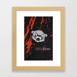Bearcat Unica Framed Art Print