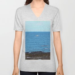Little White Boat Unisex V-Neck