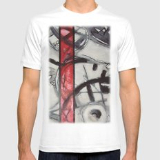 peak hour White MEDIUM Mens Fitted Tee