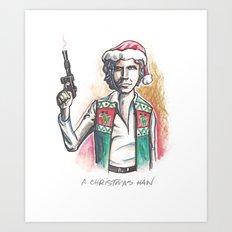 A Christmas Han Art Print