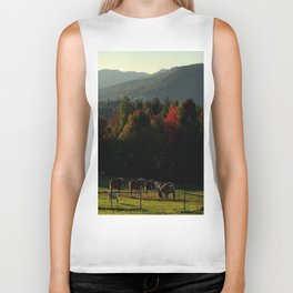 Draft Horses in Vermont Foliage Biker Tank
