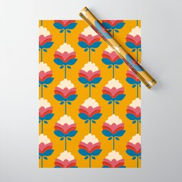 Retro fall florals- n. 4 Wrapping Paper