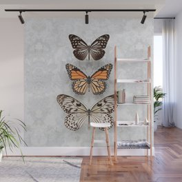 Three Speckled Butterflies Wall Mural