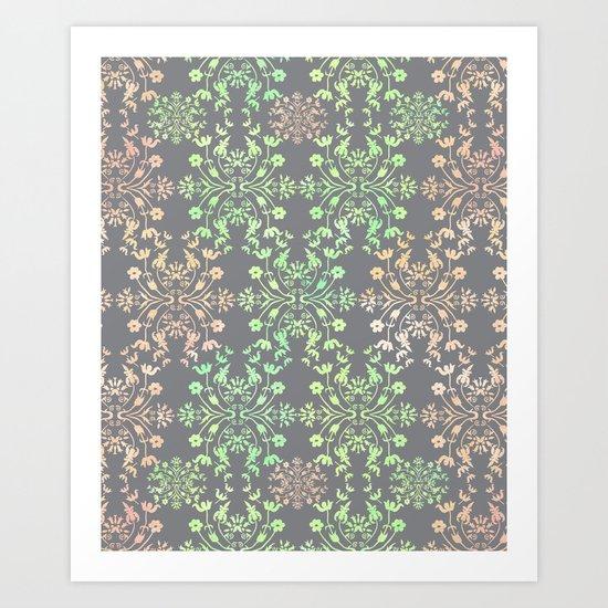Motif pattern Art Print