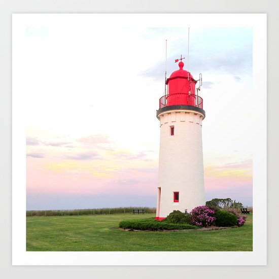 Lighthouse in Victoria Art Print
