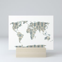 Shibori Map of World Mini Art Print