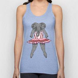 Elephant Ballerina Tutu Unisex Tank Top