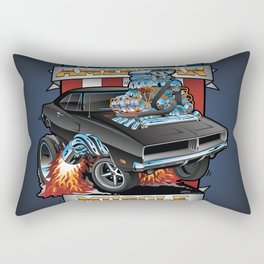 American Muscle Patriotic Classic Muscle Car Cartoon Illustration Rectangular Pillow