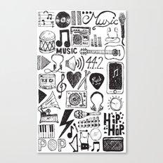 Music Doodles Canvas Print