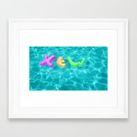 pool Framed Art Prints featuring Pool by yingxew