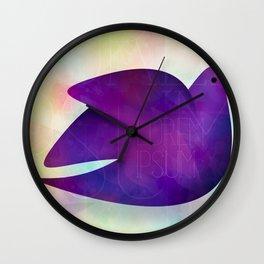 watercolor bird  Wall Clock
