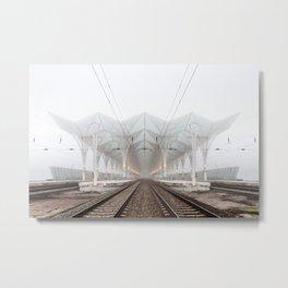 Lisbon Oriente Station Metal Print