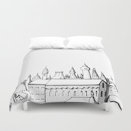 fabulous city . artwork . black and white Duvet Cover