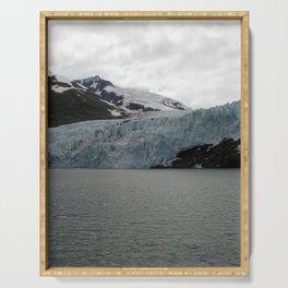TEXTURES -- A Face of Portage Glacier Serving Tray