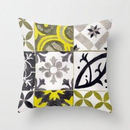 JD_tiled floor1–gouache Throw Pillow