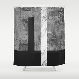 Marble geometry V Shower Curtain