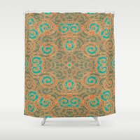 tangled Shower Curtains featuring Tangled by nandita singh