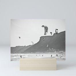 Windsurfers having fun on the Atlantic Ocean - Landscape Photography #Society6 Mini Art Print