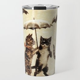 Cats in the snow Travel Mug