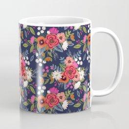 Bohemian Bouquets Floral Pattern Coffee Mug