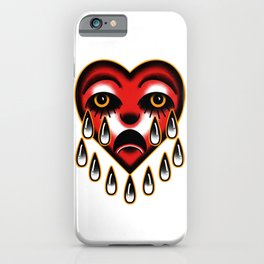 American traditional tattoo style heart. iPhone Case