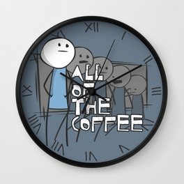All of the Coffee Wall Clock