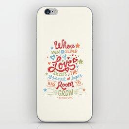 Sliver of Love iPhone Skin