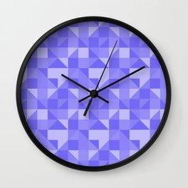 geometric figures lilas Wall Clock