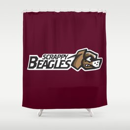 Scrappy Beagles Full Logo Shower Curtain