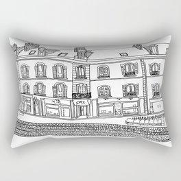 Street Corner in Le Mans, France Rectangular Pillow