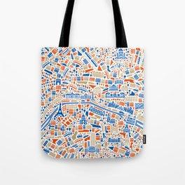 Paris City Map Poster Tote Bag