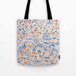 Paris City Map Poster Tote Bag
