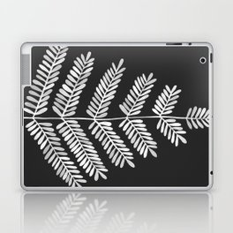 White Leaflets Laptop & iPad Skin