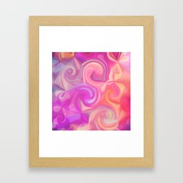 pink and orange swirls Framed Art Print