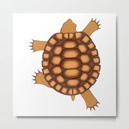 Desert Turtle Metal Print