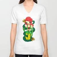 poison ivy V-neck T-shirts featuring Poison Ivy by JennaJennaBatman
