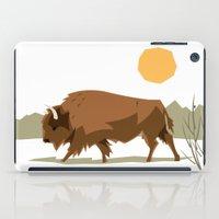 bison iPad Cases featuring Bison by Emre Özbay