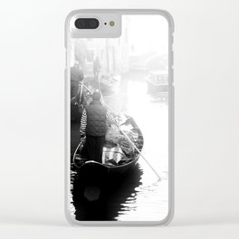 Gondoliers in Venice Clear iPhone Case