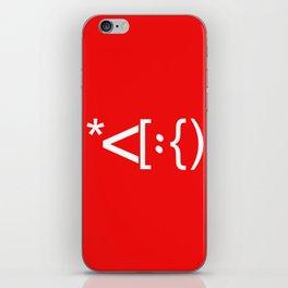Santa Face Geek Computer Language IT Christmas #2 iPhone Skin