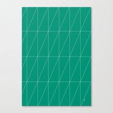 Emerald Triangles by Friztin Canvas Print