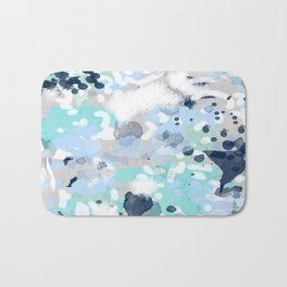Silva - abstract painting large canvas art print for modern decor cool blue relaxing design urban Bath Mat