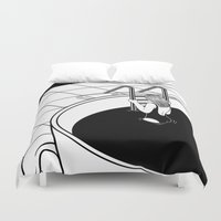 swim Duvet Covers featuring Morning Swim by Henn Kim