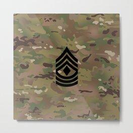 1st Sergeant (Camo) Metal Print