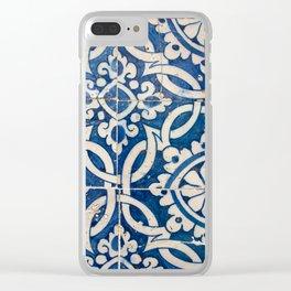 Vintage portuguese azulejo Clear iPhone Case