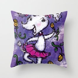 Perky Poodle Throw Pillow